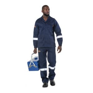 Dromex D59 Fire Suit Flame Retardant with Reflective Tape SABS Approved