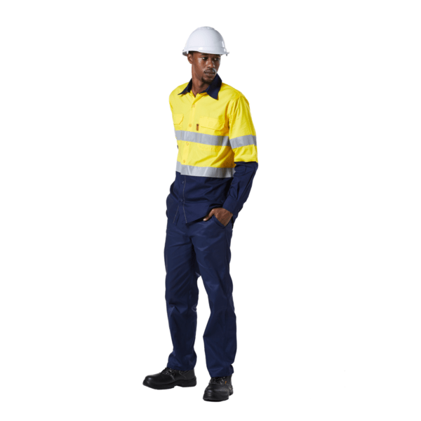 Dromex Reflective Shirts Short Sleeve & Long Sleeve Hi-Viz Two-tone Work Shirts