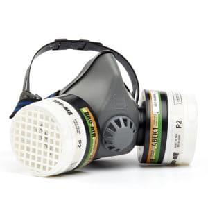 DH202 Twin Filter Respirator Half Mask