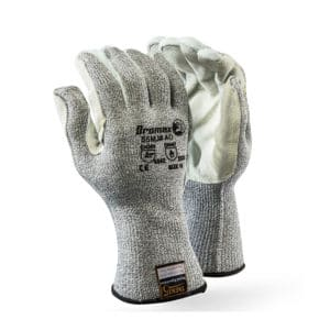 Dromex Cut5 Leather Glove with Cow Split Leather palm and Fingers Cut Resistant & Abrasion Resistant