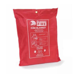 Dromex White Glass Fibre Fire Blanket Safety Equipment