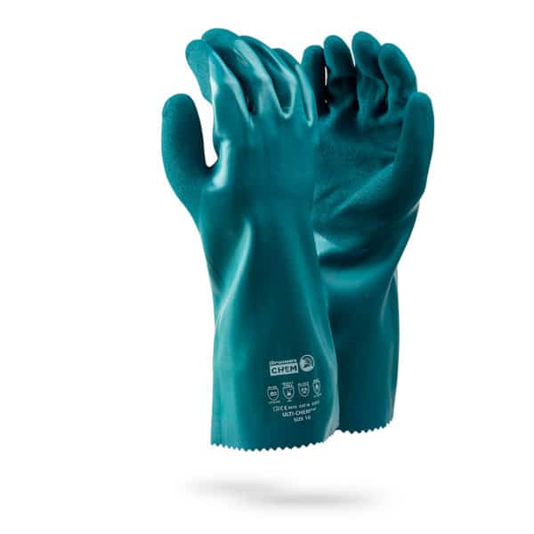Dromex ULTI-CHEM Rubber Chemical Gloves Hand Protection