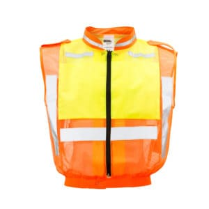 Dromex 2-Tone Reflective Sleeveless Jacket with Hi Vis Reflective Tape