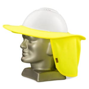 Dromex Hi Vis Brimmed Sun Protector For Hard Hats In Fluorescent Yellow