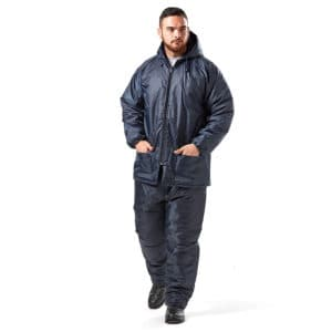 Dromex Storm Glacier Freezer Suit Reflective Navy Blue 2-piece