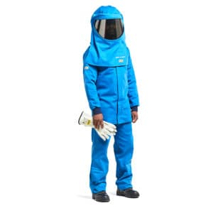 Dromex 51 cal Arc Flash Suit Blue Switching Suit with Hood